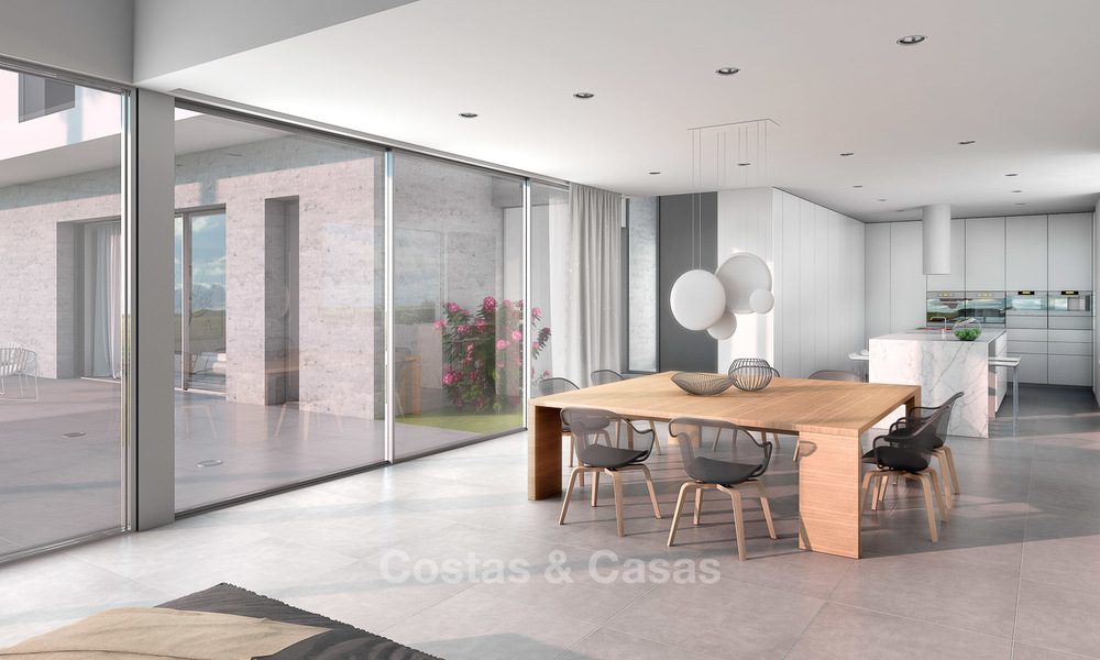 Brand new contemporary luxury villa with panoramic sea views for sale, in an exclusive golf resort, Benahavis - Marbella 10100