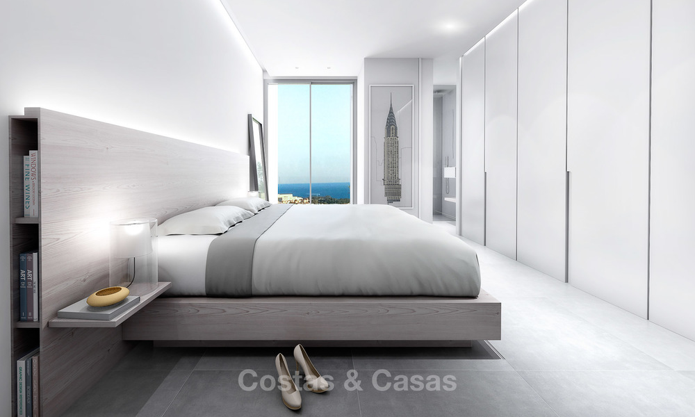 Brand new contemporary luxury villa with panoramic sea views for sale, in an exclusive golf resort, Benahavis - Marbella 10102