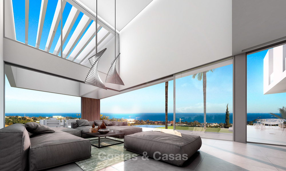 Brand new contemporary luxury villa with panoramic sea views for sale, in an exclusive golf resort, Benahavis - Marbella 10103