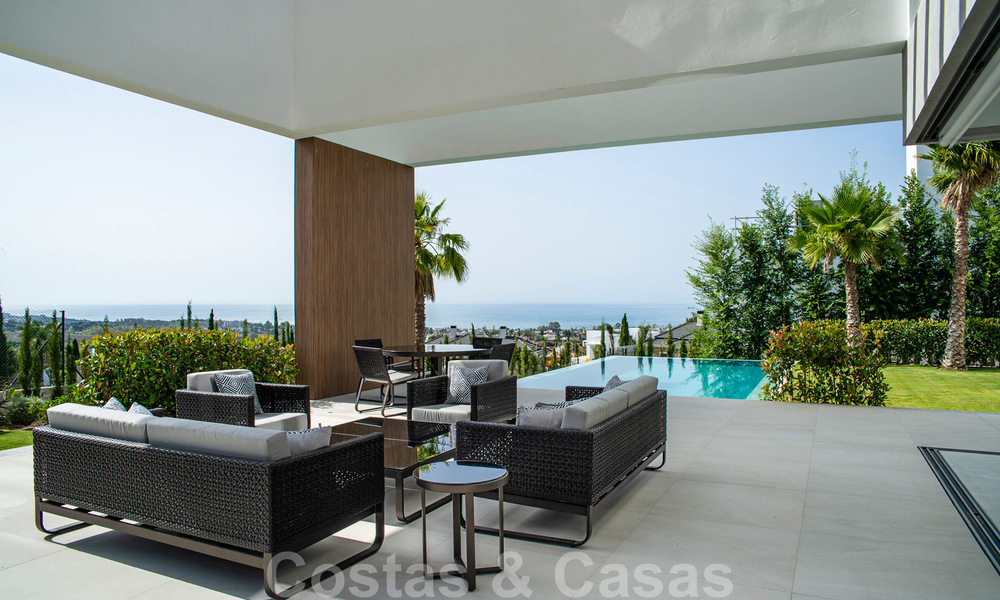 Brand new contemporary luxury villa with panoramic sea views for sale, in an exclusive golf resort, Benahavis - Marbella 26519