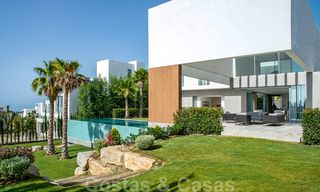 Brand new contemporary luxury villa with panoramic sea views for sale, in an exclusive golf resort, Benahavis - Marbella 26524