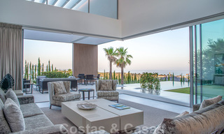 Brand new contemporary luxury villa with panoramic sea views for sale, in an exclusive golf resort, Benahavis - Marbella 26545