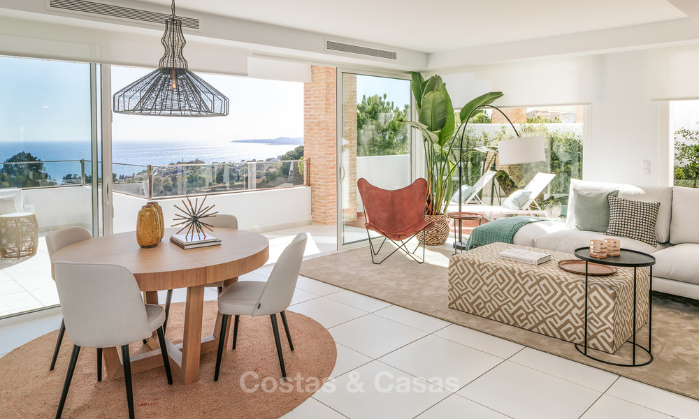 Spacious modern exclusive villas with amazing panoramic sea views for sale - Benalmadena, Costa del Sol 10171