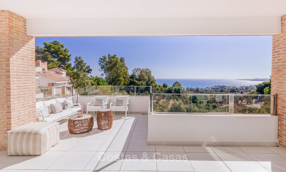 Spacious modern exclusive villas with amazing panoramic sea views for sale - Benalmadena, Costa del Sol 10175