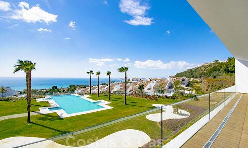 Spacious modern exclusive villas with amazing panoramic sea views for sale - Benalmadena, Costa del Sol 26503