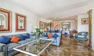 Charming, very spacious duplex ground floor apartment for sale, frontline beach and marina in Cabopino, East Marbella 10228