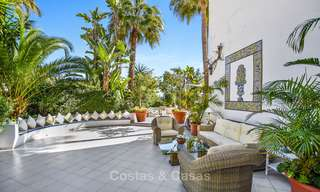 Charming, very spacious duplex ground floor apartment for sale, frontline beach and marina in Cabopino, East Marbella 10245