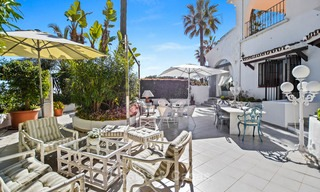 Charming, very spacious duplex ground floor apartment for sale, frontline beach and marina in Cabopino, East Marbella 10248