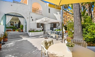Charming, very spacious duplex ground floor apartment for sale, frontline beach and marina in Cabopino, East Marbella 10250