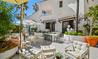 Charming, very spacious duplex ground floor apartment for sale, frontline beach and marina in Cabopino, East Marbella 10253