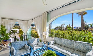 Charming, very spacious duplex ground floor apartment for sale, frontline beach and marina in Cabopino, East Marbella 10259