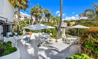 Charming, very spacious duplex ground floor apartment for sale, frontline beach and marina in Cabopino, East Marbella 10261
