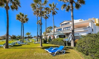 Charming, very spacious duplex ground floor apartment for sale, frontline beach and marina in Cabopino, East Marbella 10264