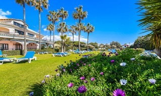 Charming, very spacious duplex ground floor apartment for sale, frontline beach and marina in Cabopino, East Marbella 10265