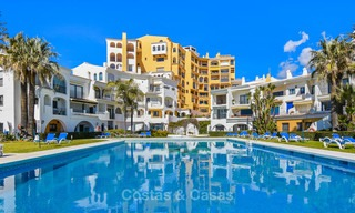 Charming, very spacious duplex ground floor apartment for sale, frontline beach and marina in Cabopino, East Marbella 10266
