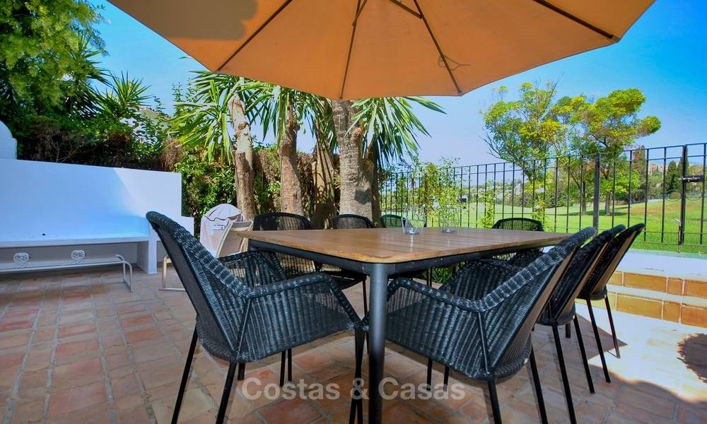 Adorable fully refurbished frontline golf townhouse for sale in Nueva Andalucia´s golf valley, Marbella 10455
