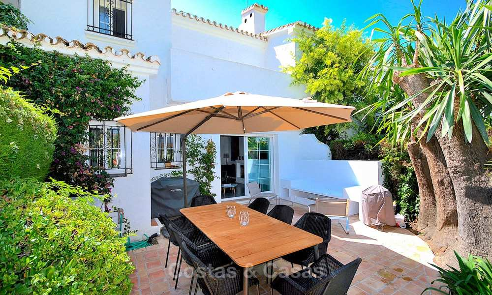 Adorable fully refurbished frontline golf townhouse for sale in Nueva Andalucia´s golf valley, Marbella 10456