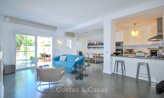 Adorable fully refurbished frontline golf townhouse for sale in Nueva Andalucia´s golf valley, Marbella 10460