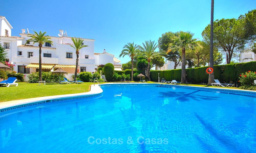 Adorable fully refurbished frontline golf townhouse for sale in Nueva Andalucia´s golf valley, Marbella 10475