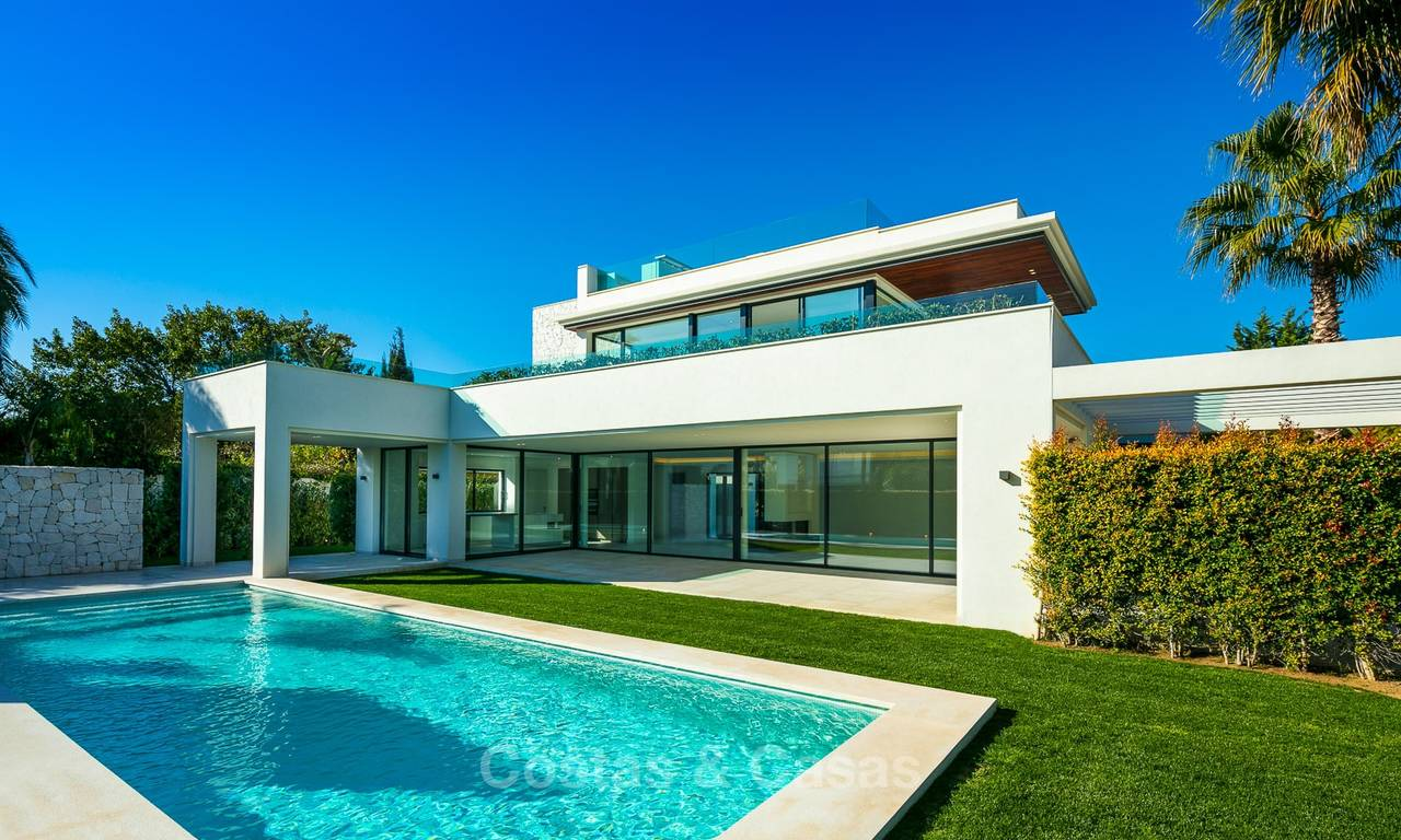 Two spectacular new-built contemporary beachside villas for sale, ready to move in, Marbella - Estepona East 10505