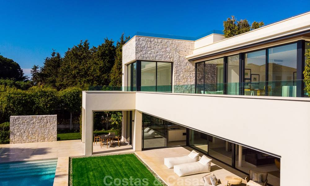 Two spectacular new-built contemporary beachside villas for sale, ready to move in, Marbella - Estepona East 10506