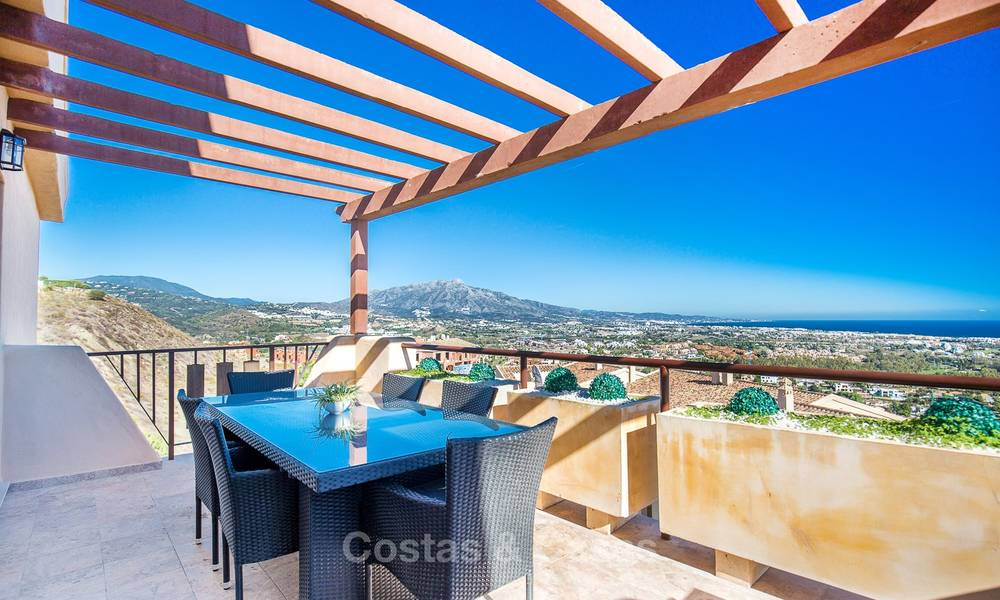 Luxury penthouse apartment with amazing panoramic sea and mountain views for sale, Benahavis, Marbella 10534
