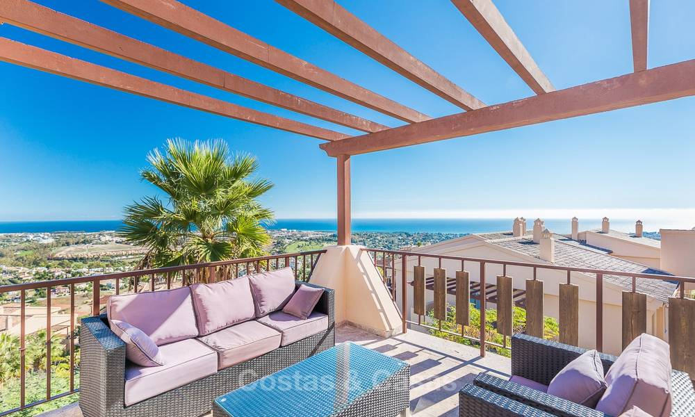 Luxury penthouse apartment with amazing panoramic sea and mountain views for sale, Benahavis, Marbella 10537