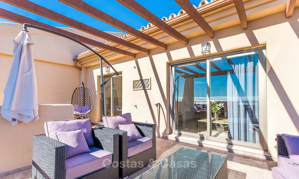 Luxury penthouse apartment with amazing panoramic sea and mountain views for sale, Benahavis, Marbella 10538