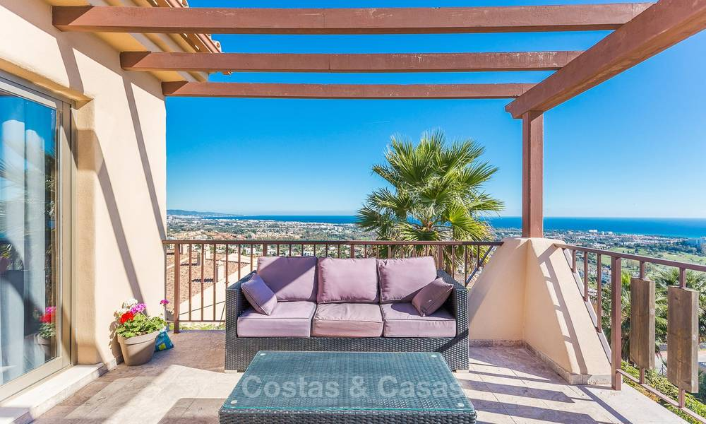 Luxury penthouse apartment with amazing panoramic sea and mountain views for sale, Benahavis, Marbella 10539