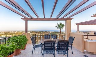 Luxury corner penthouse apartment with stunning panoramic sea, golf and mountain views for sale, Benahavis, Marbella 10565