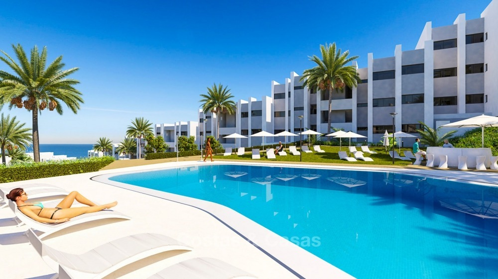 Modern contemporary luxury apartments with stunning sea views for sale, walking distance from the beach, La Duquesa, Manilva, Costa del Sol 10822