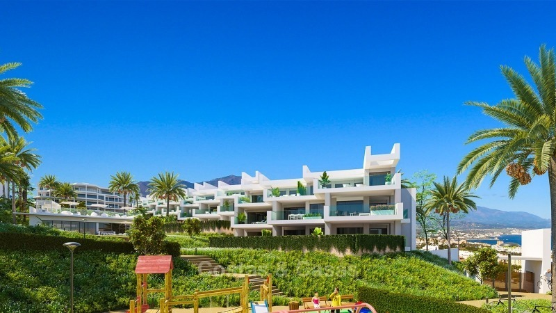 Modern contemporary luxury apartments with stunning sea views for sale, walking distance from the beach, La Duquesa, Manilva, Costa del Sol 10823