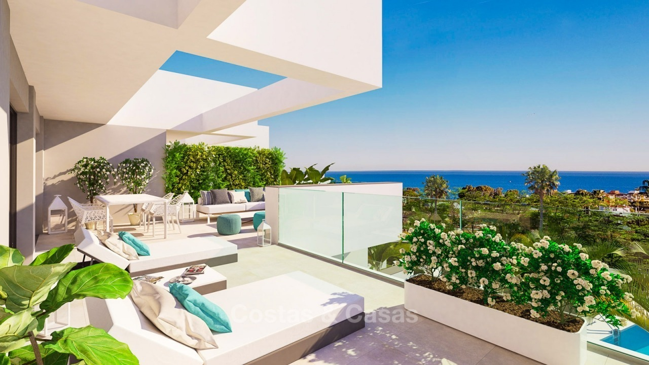Modern contemporary luxury apartments with stunning sea views for sale, walking distance from the beach, La Duquesa, Manilva, Costa del Sol 10825