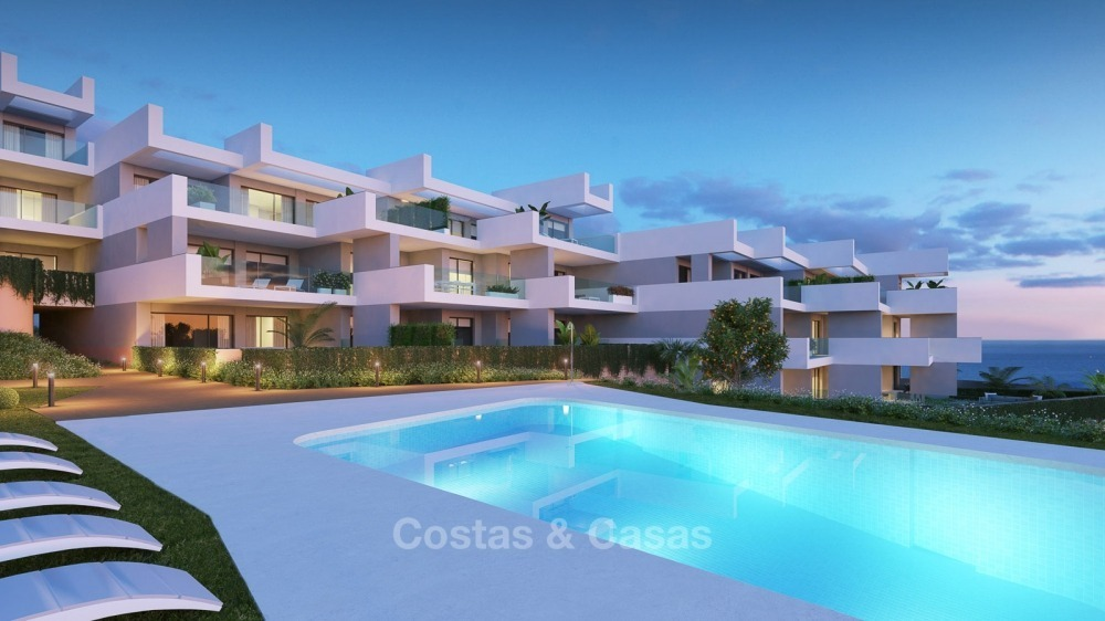 Modern contemporary luxury apartments with stunning sea views for sale, walking distance from the beach, La Duquesa, Manilva, Costa del Sol 10827