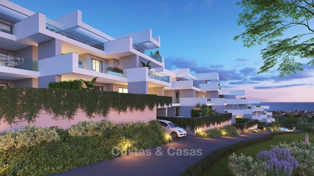 Modern contemporary luxury apartments with stunning sea views for sale, walking distance from the beach, La Duquesa, Manilva, Costa del Sol 10828