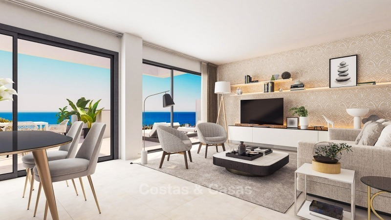 Modern contemporary luxury apartments with stunning sea views for sale, walking distance from the beach, La Duquesa, Manilva, Costa del Sol 10829