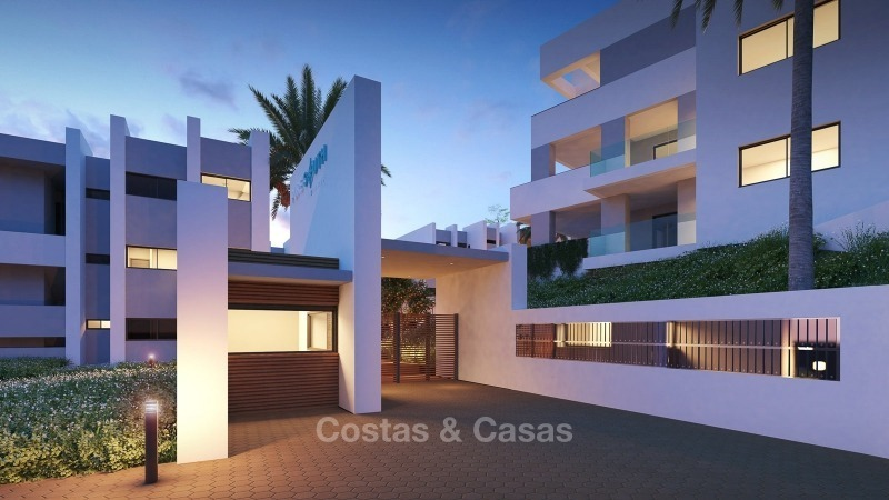 Modern contemporary luxury apartments with stunning sea views for sale, walking distance from the beach, La Duquesa, Manilva, Costa del Sol 10830