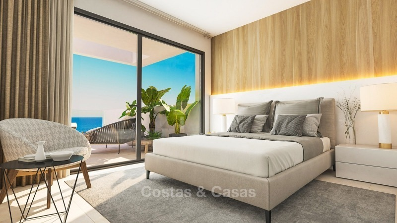 Modern contemporary luxury apartments with stunning sea views for sale, walking distance from the beach, La Duquesa, Manilva, Costa del Sol 10832