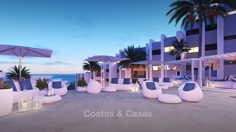 Modern contemporary luxury apartments with stunning sea views for sale, walking distance from the beach, La Duquesa, Manilva, Costa del Sol 10838