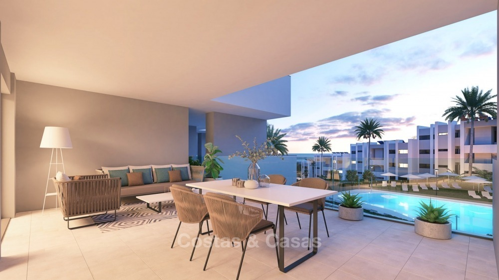 Modern contemporary luxury apartments with stunning sea views for sale, walking distance from the beach, La Duquesa, Manilva, Costa del Sol 10839