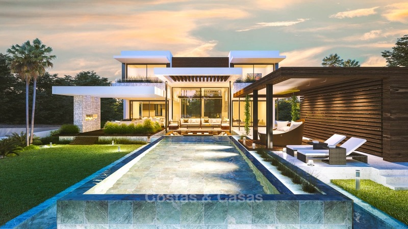 Spectacular contemporary style villa for sale on the New Golden Mile - Estepona East, Marbella 10858