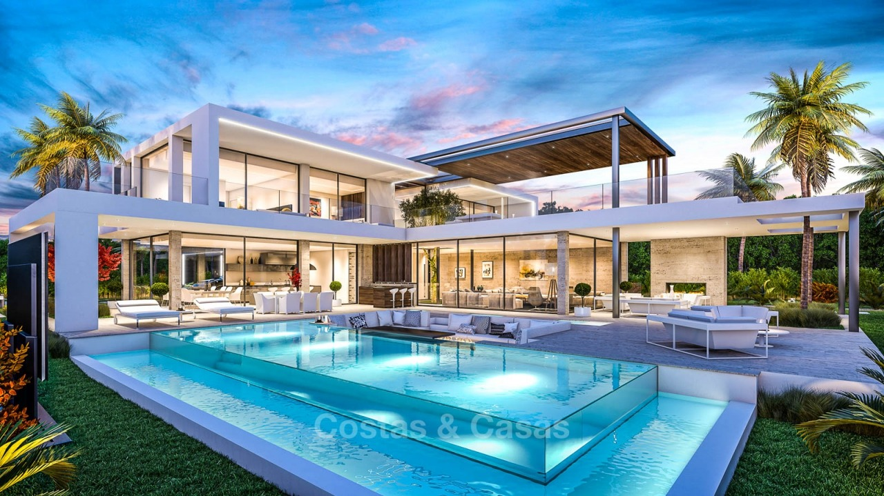 Luxurious contemporary beachside villa for sale, New Golden Mile between Marbella and Estepona 10861