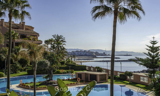 Luxury frontline beach apartment for sale in an exclusive residential complex, Puerto Banus, Marbella 11555