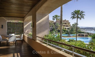 Luxury frontline beach apartment for sale in an exclusive residential complex, Puerto Banus, Marbella 11567