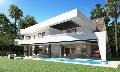New innovative luxury villa in modern style for sale, beachside Elviria, Marbella 11694