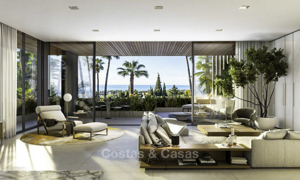 Luxurious contemporary designer villas with breath taking sea views for sale - Sierra Blanca, Golden Mile, Marbella 11491