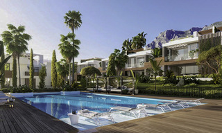 Luxurious contemporary designer villas with breath taking sea views for sale - Sierra Blanca, Golden Mile, Marbella 11495