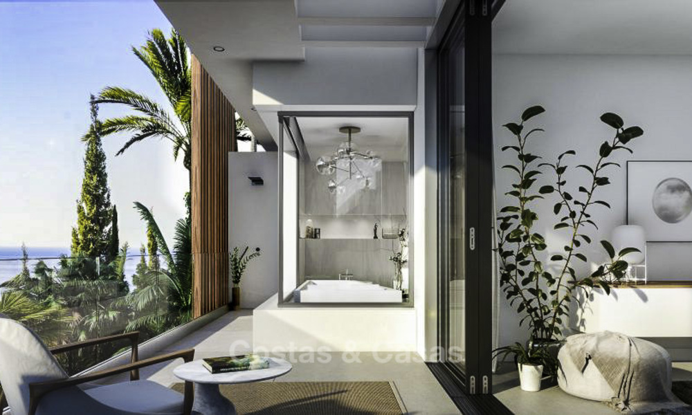 Luxurious contemporary designer villas with breath taking sea views for sale - Sierra Blanca, Golden Mile, Marbella 11507