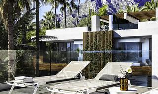 Luxurious contemporary designer villas with breath taking sea views for sale - Sierra Blanca, Golden Mile, Marbella 11508