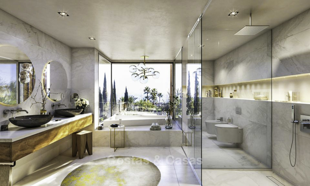 Luxurious contemporary designer villas with breath taking sea views for sale - Sierra Blanca, Golden Mile, Marbella 11510